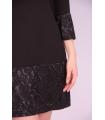 Rochie de seara neagra cu mansete brodate  - 3