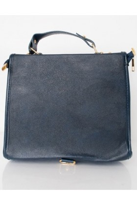 Geanta bleumarin stil postas  - 6