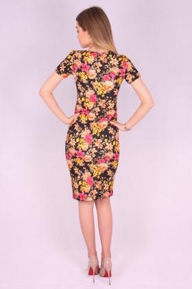 Rochie mulata model floral galben  - 3