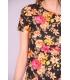 Rochie mulata model floral galben  - 4