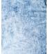 Blugi cu talia inalta, albastri decolorati cu taieturi Parisian - 8