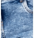 Blugi albastri decolorati skinny si talia inalta Parisian - 7