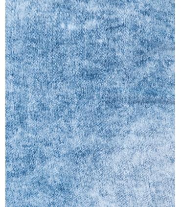 Blugi albastri decolorati skinny cu talia inalta Parisian - 7
