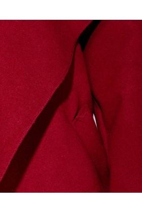 Palton subtire visiniu, lung cu cordon Parisian - 8