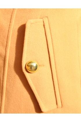 Palton elegant cu doua randuri de nasturi aurii  - 3