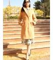 Palton elegant cu doua randuri de nasturi aurii