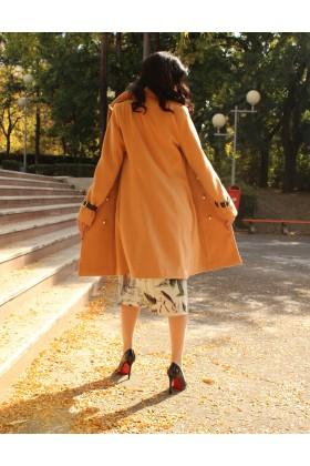 Palton elegant cu doua randuri de nasturi aurii  - 5