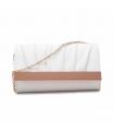 Clutch Carlie elegant cu detalii rose gold din piele ecologica
