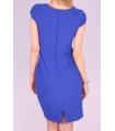 Rochie albastra cu model brodat  - 3