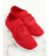 Adidasi rosii, din material textil perforat  - 3