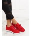 Adidasi rosii, din material textil perforat