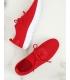 Adidasi rosii, din material textil perforat  - 4