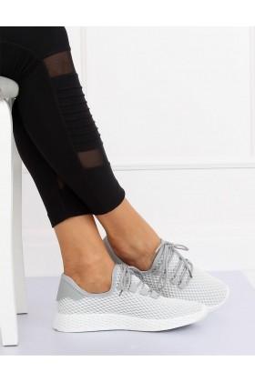 Adidasi gri din material textil  - 1