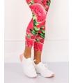 Adidasi din material textil elastic alb cu roz, cu talpa groasa  - 3