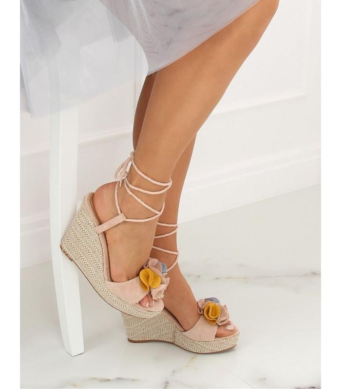Sandale cu talpa ortopedica, roz  - 1
