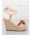Sandale cu talpa ortopedica, roz  - 2