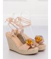 Sandale cu talpa ortopedica, roz  - 3