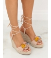 Sandale cu talpa ortopedica, roz  - 4