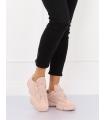 Adidasi Dama Roz Deschis din Material Textil si Piele Ecologica - Talpa Groasa  - 1