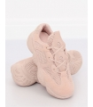 Adidasi Dama Roz Deschis din Material Textil si Piele Ecologica - Talpa Groasa  - 2