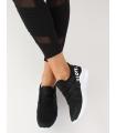 """Adidasi din material textil negru - """"WE LOVE""""  - 3"""
