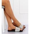 Papuci negri cu aplicatii stralucitoare  - 1