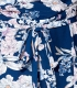 Salopeta scurta albastra cu imprimeu floral Parisian - 8