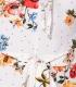 Salopeta scurta alba cu imprimeu floral Parisian - 3