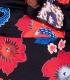 Rochie scurta neagra cu imprimeu floral, model parte peste parte Parisian - 8