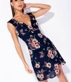 Rochie scurta bleumarin cu print floral Parisian - 6