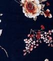 Rochie scurta bleumarin cu print floral Parisian - 8