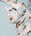 Rochie Albastra Scurta cu Imprimeu Floral Parisian - 1