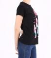 """Tricou negru, casual, cu imprimeu mama si copii, si text """"Mom life is the best life""""  - 2"""