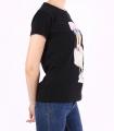 Tricou negru casual cu imprimeu fetita  - 2