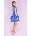 Rochie albastra din material satinat