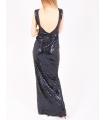 Rochie cu paiete albastre lunga  - 4