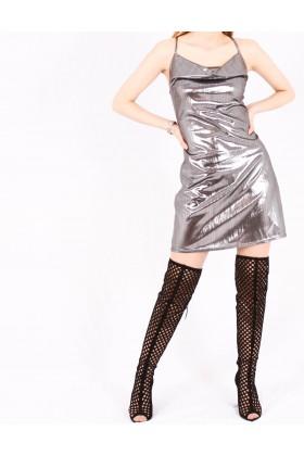Rochie metalica scurta  - 2