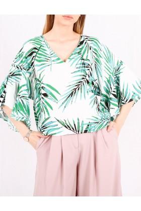 Bluza cu frunze imprimate Raspberry - 1