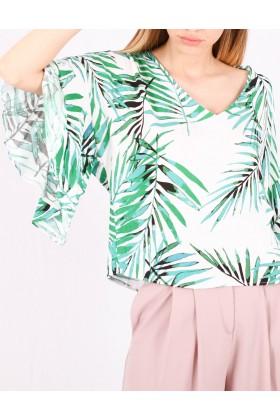 Bluza cu frunze imprimate Raspberry - 2