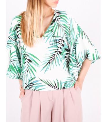 Bluza cu frunze imprimate Raspberry - 4