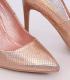 Pantofi cu toc, champagne cameleon din imitatie piele de sarpe  - 3