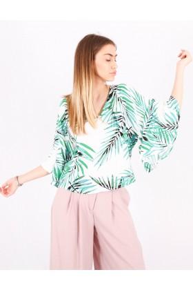 Bluza cu frunze imprimate Raspberry - 5