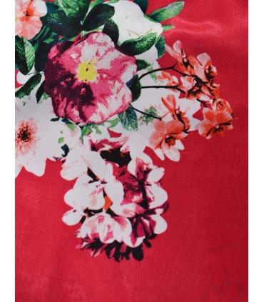 Top roz cu imprimeu cu flori  - 2