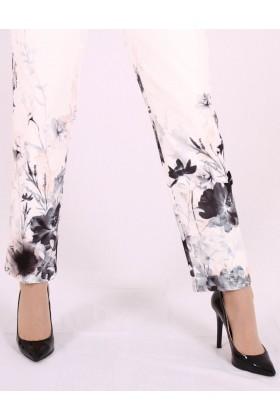 Pantaloni cu imprimeu floral Raspberry - 2