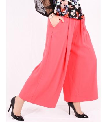 Pantaloni roz evazati  - 2