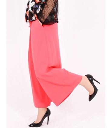 Pantaloni roz evazati  - 3