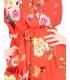 Salopeta rosie cu imprimeu floral Raspberry - 5