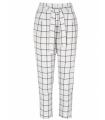 Pantaloni albi cu patrate de culoare neagra Raspberry - 6