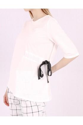 Top alb cu funda neagra in lateral Raspberry - 1