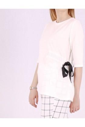 Top alb cu funda neagra in lateral Raspberry - 2